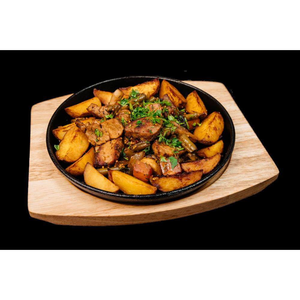 Гаряча сковорідка зі свининою